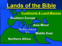Map of Continents and Land Masses of the Bible