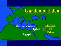 Map of the area where the Garden of Eden would have been located.