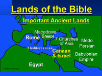 Map of Important Ancient Lands of the Bible
