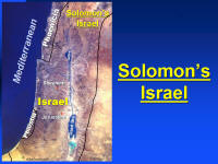 Photo map showing the extent of Solomon's power as King of Israel.